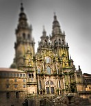 The cathedral of Santiago de Compostela is the destination of the important medieval pilgrimage route, the Way of St James  Galicia, spain