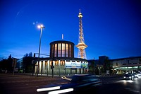 Funkturm Tower Berlin Germany at Night