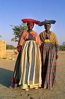 namibia, Herero women, Sesfontein