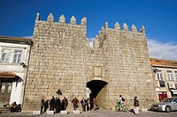 Main entrance of castle walls in Trancoso village, in Beira Alta  Guarda District  Portugal