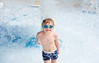boy in water park