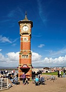 Morecambe clock tower and promenade Lancashire England UK