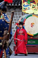 The changing of ceremonial guards at the Deoksgung palace