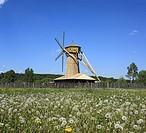 Wooden windmill, New Jerusalem monastery, Istra, Moscow region, Russia