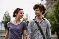 Germany, Berlin, Young couple, portrait