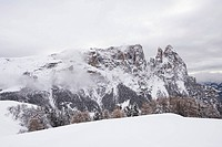 Italy, South Tyrol, Schlern mountain, Santner peak