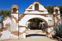 Entrance to Mission San Miguel Arcangel, San Miguel, California, United States of America, North America