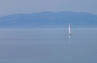 Germany, Baden_W¸rttemberg, Friedrichshafen, Sailingboat on Lake Constance