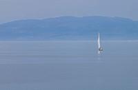 Germany, Baden_W¸rttemberg, Friedrichshafen, Sailingboat on Lake Constance