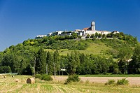 The medieval bastide town of Tournon D'Agenais in Lot et Garonne France Europe