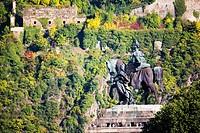 Germany, Rhineland_Palatinate, Koblenz, Deutsches Eck, Monument of Kaiser Wilhelm I