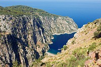 Aerial view of Butterfly Valley  Province of Mugla, Turkey