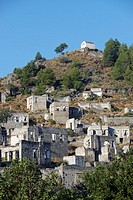 Abandoned village of Kayakoy Greek: Levissi - a village 8 km south of Fethiye where Anatolian Greeks lived until approximately 1923  Province of Mugla...