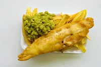 Fish and Chips in a plastic tray