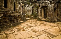 Cambodia, Angkor Thom, Bayon  Bayon is a well-known and richly decorated Khmer temple at Angkor in Cambodia