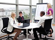 Multi_ethnic business people working together in an office