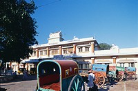 Rameshwaram town railway station , Tamil Nadu , India