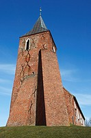 Backsteinkirche St  Stephanus in Westerhever, Schleswug-Holstein, Deutschland , St  Stephanus Church of Westerhever, Schleswig-Holstein, Germany