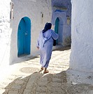 Calle de Chefchaouen  Marruecos
