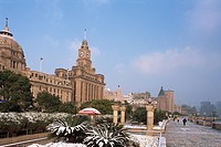 The Bund in snow, Shanghai, China