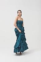 Portrait of beautiful woman wearing dress