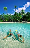 One foot Island Cook Islands Aitutaki