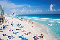 Chac_Mool beach, Cancun, State of Quintana Roo, Peninsula Yucatan, Mexico