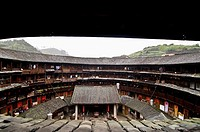 A view from the inside of a Tulou in Fujian province, China.