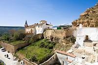 Natural monument Carcavas de Marchal, Granada province, Province Granada, Andalucia, Spain