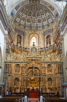Interior view of the Chapel of the Savior, Sacre Capilla del Salvador del Mundo, Ubeda, Andalucia, Province Jaen, Spain