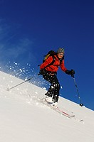 Skiing, Grosser Jaufen, Pragser Valley, Hochpuster Valley, South Tyrol, Italy