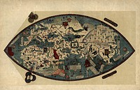 Genoese world map. This world map was drawn in around 1450, possibly by the Italian mathematician, astronomer, and geographer Paolo dal Pozzo Toscanel...
