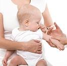 Baby vaccination.