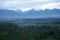 Mountain ranges, Bukidnon, Philippines