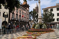 Flower Festival FUNCHAL MADEIRA Tapestry of flower decorating city centre street square