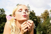 Woman dandelion