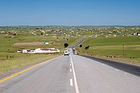 The N2 highway near the town of Idutywa in a region of South Africa´s Eastern Cape Province formerly known as the Transkei.