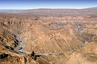 View across the Fish River Canyon in Namibia.