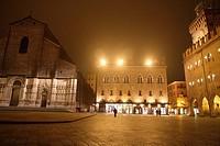 Palazzo dei Notai at night, Bologna, Emilia-Romagna, Italy