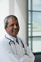Head shot of Indian Doctor smiling