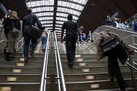 England, London, Paddington, Commuters at Paddington Station.