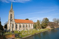 All Saints Church by Thames river. Marlow Street. Marlow. Buckinghamshire. England. UK