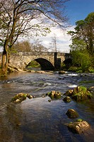 England, Cumbria, Skelwith Bridge, The river downstream of Skelwith Force near the small village of Skelwith Bridge.