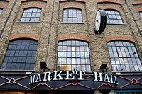 England, London, Camden Town, The exterior of Market Hall at Camden Lock Market.