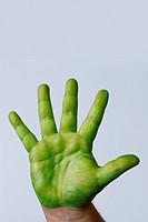 A green hand