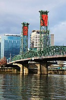 portland, oregon, united states of america, willamette river and downtown portland