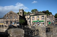 England, West Yorkshire, Holmfirth, A view of the town of Holmfirth