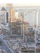 Construction site on The Strip, Las Vegas, Nevada, USA