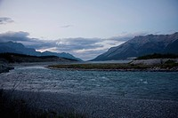 a river running through the mountains