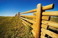 alberta, canada, a wooden rail fence